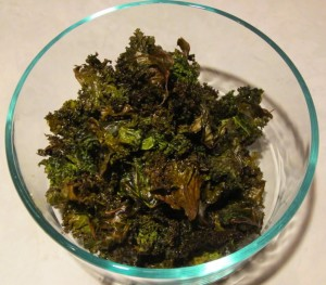 Kale Chips with Healthy Fats